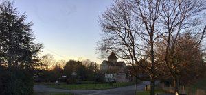 Sunset at Adisham in Kent